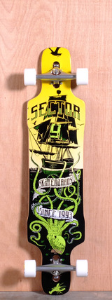 "Sector 9 41.8"" Dropper Longboard Complete - Green"