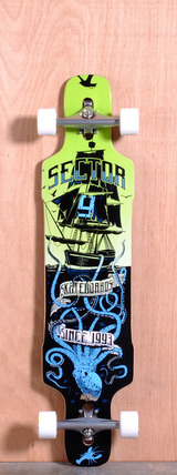 "Sector 9 41.8"" Dropper Longboard Complete - Blue"