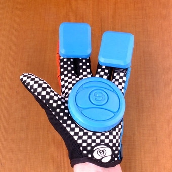 Sector 9 Rally Junior Slide Gloves - Blue