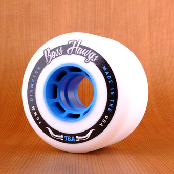Hawgs Boss 70mm 76a Wheels - Blue Core