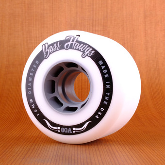 Hawgs Boss 70mm 80a Wheels - Grey Core