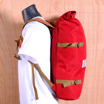 Poler Rolltop Backpack - Red