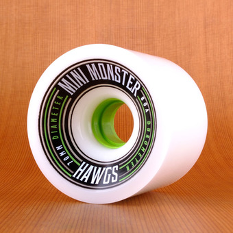 Hawgs Mini Monster 70mm 80a Wheels - White
