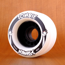 Hawgs Zombie Aqua 76mm 80a Wheels - White