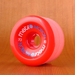 Metro Motion 70mm 80a Wheels - Red