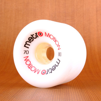 Metro Motion 70mm 80a Wheels - White