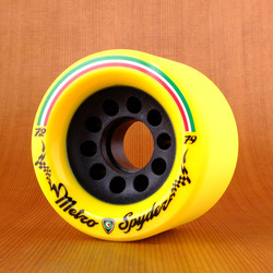 Metro Spyder 72mm 79a Wheels - Yellow