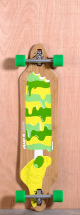 "Madrid 38.375"" Popsicle Longboard Complete - Bamboo"