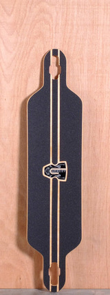 "Gravity 41"" Drop Carve Longboard Deck - Olas Azules"