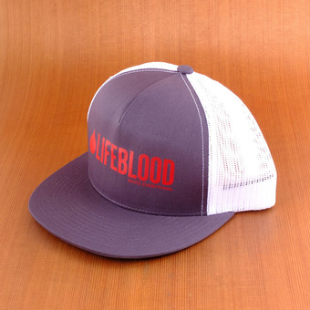 Lifeblood Trucker Hat - Gray/Red