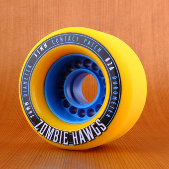 Hawgs Zombie 76mm 82a Wheels - Yellow