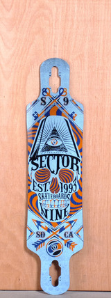 "Sector 9 39"" Seeker Longboard Deck - Blue"