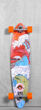 "San Clemente 38"" Save Japan Dolphins Longboard Complete"