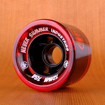 Never Summer 72mm 78a Wheels - Red