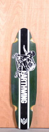 """Earthwing 38"""" 4-Ply Carbon Superglider Longboard Deck - Green"""