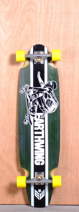 "Earthwing 38"" 4-Ply Carbon Superglider Longboard Complete - Green"