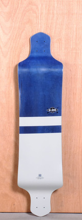 "Globe 41"" Geminon Drop Down Longboard Deck - Blue/White"