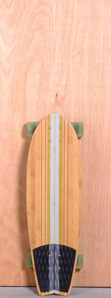 "Globe 30"" Pin City Bamboo Longboard Complete - Clear Water/Green"