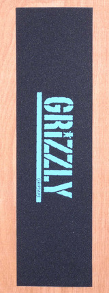 "Grizzly Stamp Print Grip Tape 9"" X 33"" Sheet - Diamond Blue"