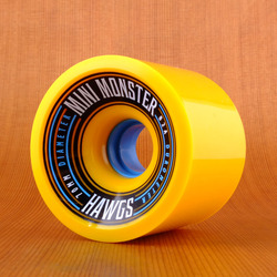 Hawgs Mini Monster 70mm 82a Wheels - Yellow
