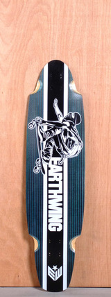 "Earthwing 38"" 5-Ply Carbon Superglider Longboard Deck - Blue"