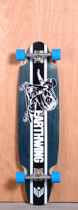 "Earthwing 38"" 5-Ply Carbon Superglider Longboard Complete - Blue"