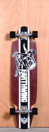 """Earthwing 38"""" 5-Ply Carbon Superglider Longboard Complete - Red"""
