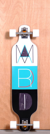 "Madrid 39"" Cutout Longboard Complete"