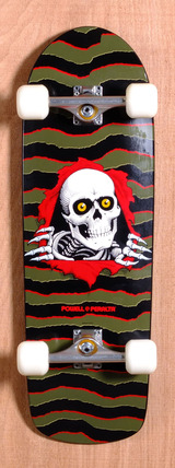 "Powell 31.75"" Old School Ripper Skateboard Complete - Olive"