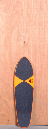 "GoldCoast 27"" Pier Shovel Longboard Deck - Orange"