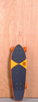 "GoldCoast 27"" Pier Shovel Longboard Complete - Orange"