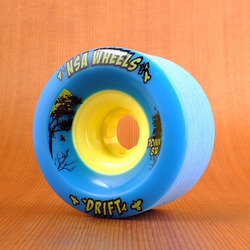 Never Summer Drift 70mm 81a Wheels - Cyan