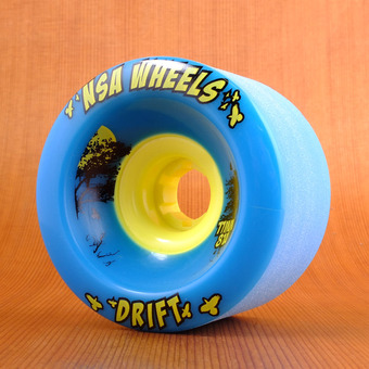 Never Summer Drift 77mm 81a Wheels - Cyan