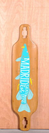 "Madrid 39"" Pike Longboard Deck - Bamboo"