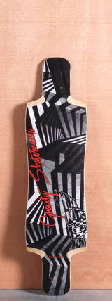 "Gravity 38"" Twin Kick Longboard Deck - Gotham"