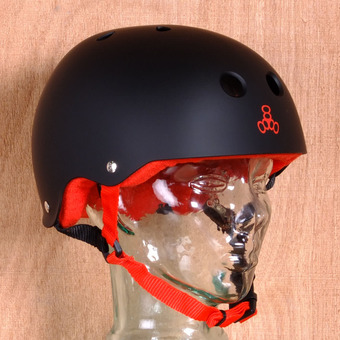 Triple 8 Brainsaver Helmet - Black Rubber