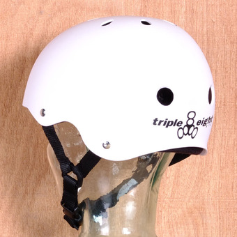 Triple 8 Brainsaver Helmet - White