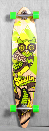 "Stella 46"" Pintail Owl Longboard Complete"