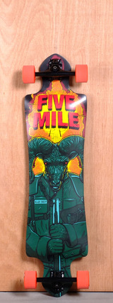"Five Mile 39"" Black Sheep Longboard Complete"