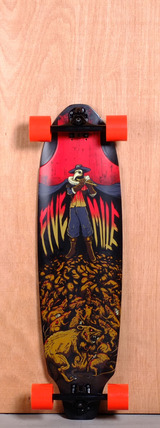 "Five Mile 36"" Pied Piper Longboard Complete"