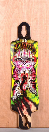 "Gravity 38"" Drop Through Longboard Deck - Raging Tiger"
