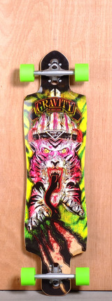 "Gravity 38"" Drop Through Longboard Complete - Raging Tiger"