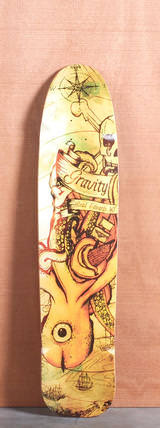 "Gravity 40"" Brad Edwards Pro Longboard Deck - Sea Monster"