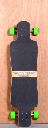 "Gravity 38"" Twin Kick Longboard Complete - Midnight Thief"