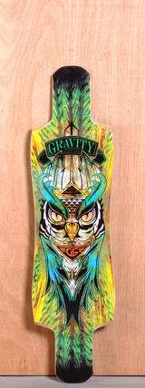 "Gravity 38"" Twin Kick Longboard Deck - Midnight Thief"