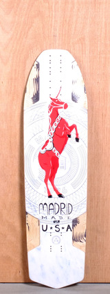 "Madrid 38.25"" Havoc Longboard Deck - Dala Unicorn"