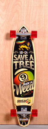 "Sector 9 38.5"" R.A.W. Bamboo Longboard Complete"