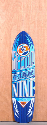 "Sector 9 36"" Carbon Flight Longboard Deck - Blue"