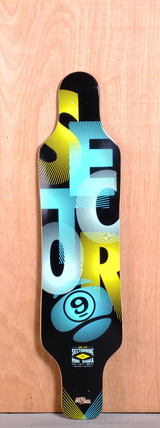 "Sector 9 40.5"" Mini Shaka Longboard Deck - Blue"