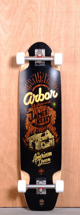 "Arbor 38.5"" James Kelly Pro Model Longboard Complete"